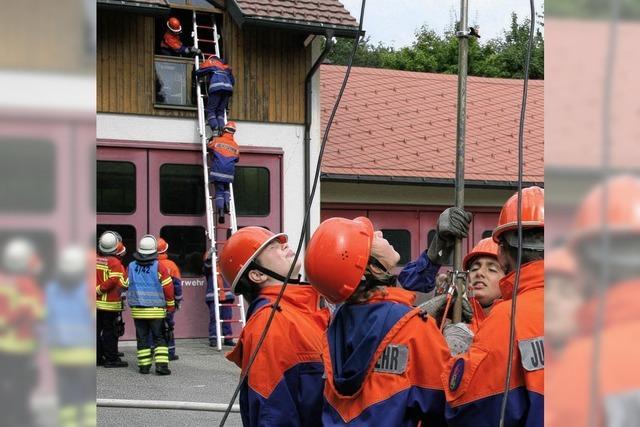 Wie im richtigen Feuerwehrleben