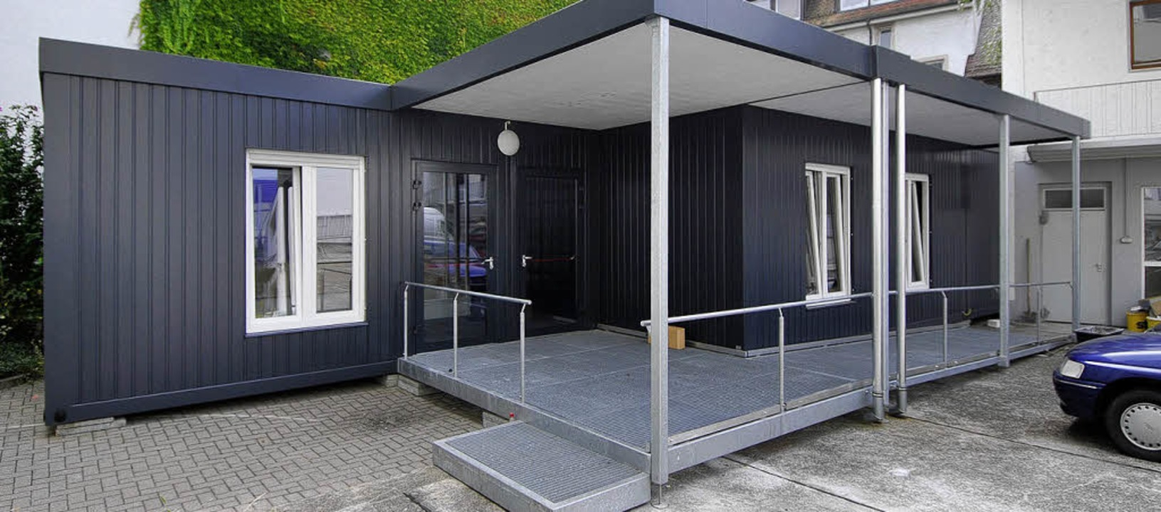 In diesem Container im Hof der UB 2 können Bücher abgeholt und abgegeben werden.  | Foto: Michael Bamberger