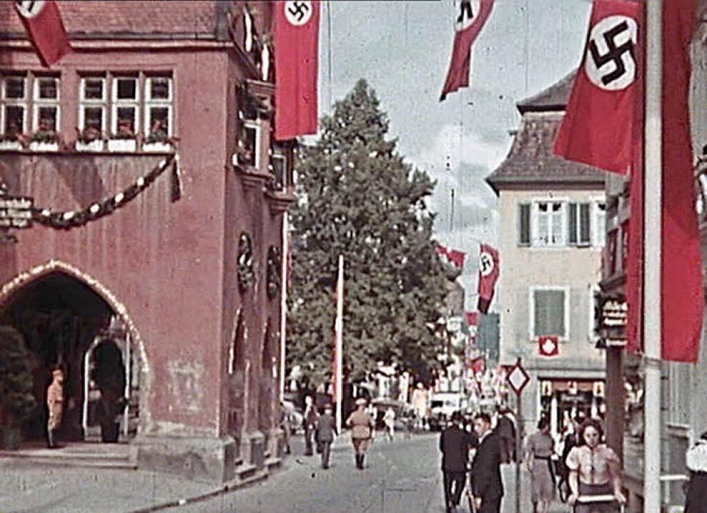 Zum Kreisparteitag 1939 präsentierte s...rühesten Farbfilme aus Lahr entnommen.  | Foto: Stadtarchiv