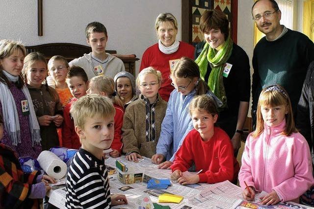 Farbenspiel für die Kinder