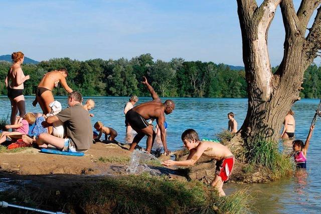 Weniger Probleme am Burkheimer Baggersee