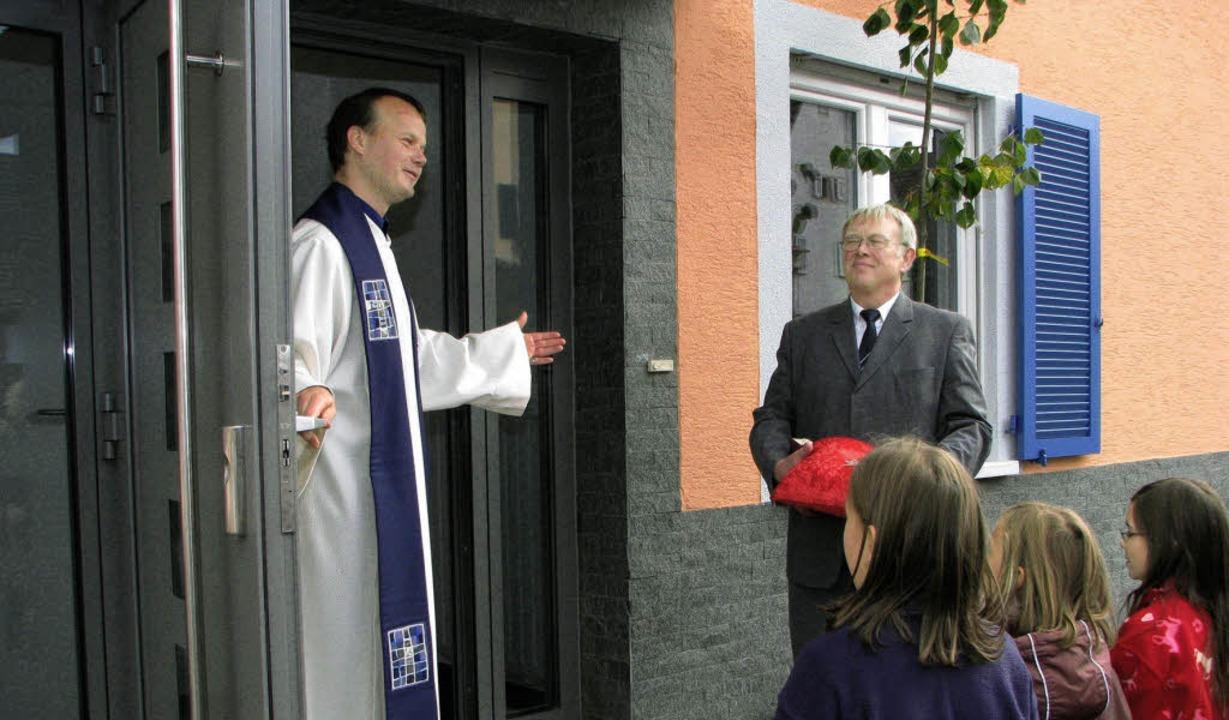 Kommt herein in die gute Scheune Gotte...der evangelisch-lutherischen Christen.  | Foto: STEFAN MERKLE
