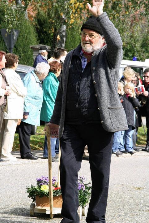 Hatte nicht arg viel dabei: Gottfried Rühl vom Schildbach.    Foto: Peter Schütz