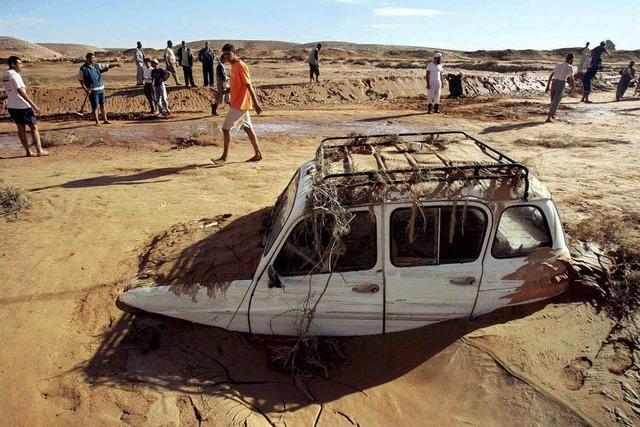 Bilder des Tages: Wüstenflut