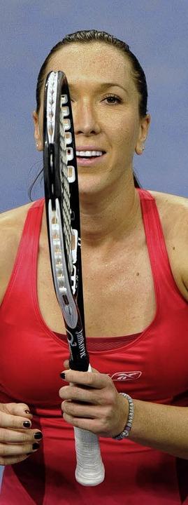 Jelena Jankovic triumphierte beim Tennisturnier in Stuttgart.   | Foto: dpa