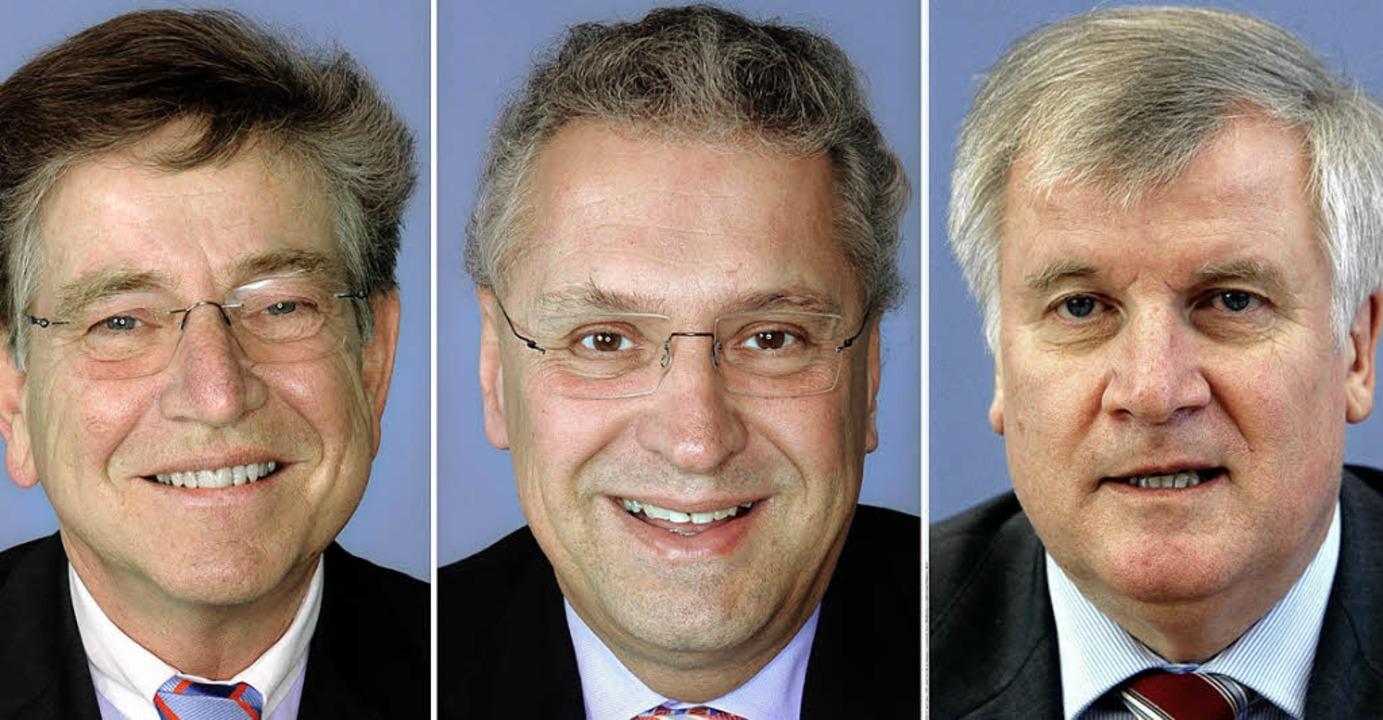 Drei Herren bewerben sich weiterhin um... Joachim Herrmann und Horst Seehofer      Foto: dpa