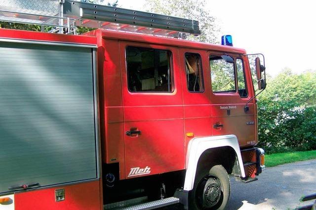 Feuerwehr übt an der St.-Margarethen-Kirche
