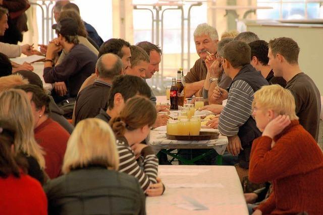 Das Winzerfest ist auch ein beliebter Mittagstreff
