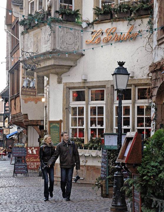 """Le Gruber"" in Straßburg w...et-Gastronom Philippe Bohrer geführt.   | Foto: Annette Lipowsky"