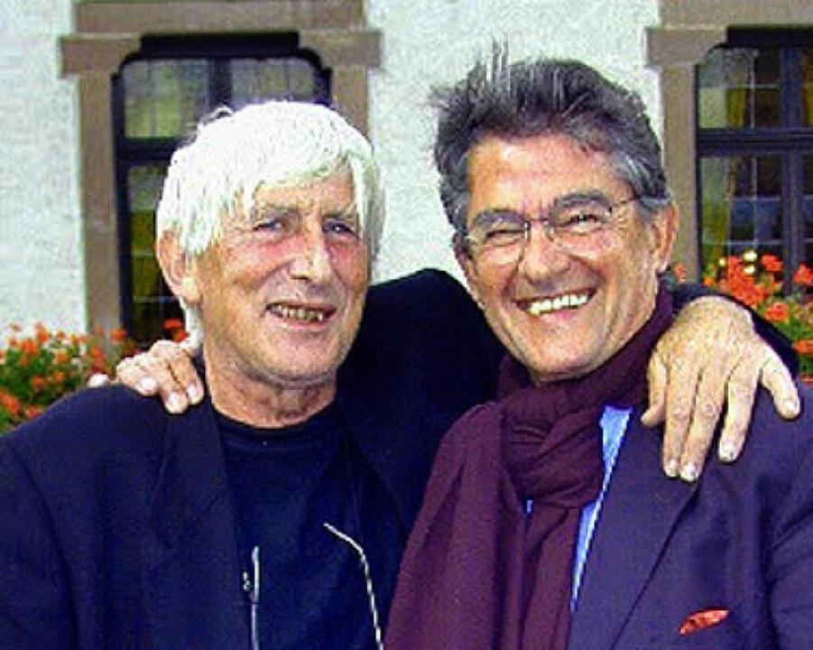 Roland Dieterle (rechts) mit Tomi Ungerer   | Foto: hpw