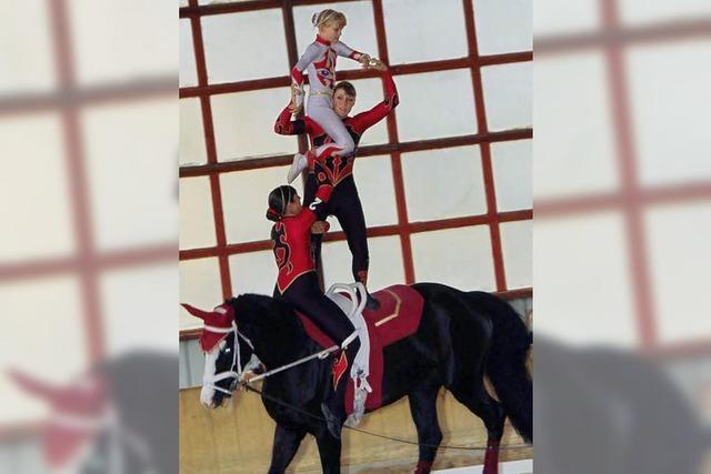 Akrobaten hoch zu Ross