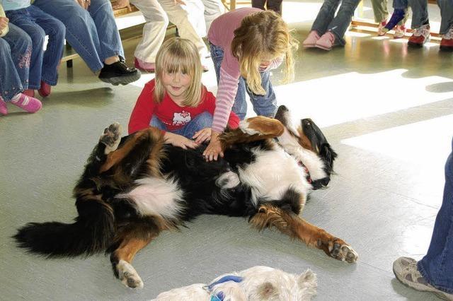 Kinder lernen Hundewesen