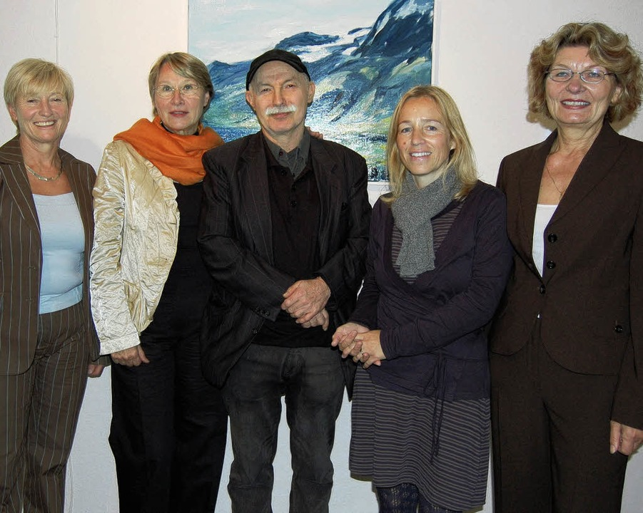 Rolf Zimmermann und Heidi Nübling (2. ...n der Kunstwerksta(d)tt Laufenburg.     | Foto: Melanie DRAMAC