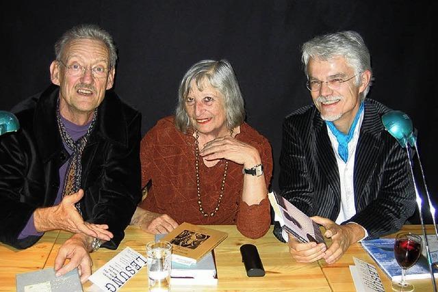 Lyrik-Lesung mit drei Autoren in drei Sprachen
