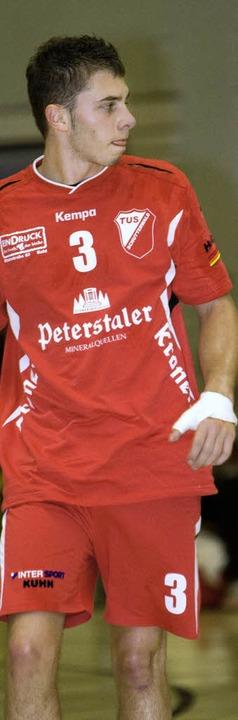 Yannick Grothe vom TuS Schutterwald will den ersten  Sieg  | Foto: ünver