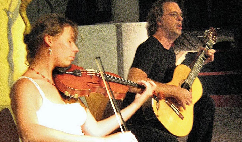 Vivien Zeller und Holger Saarmann   | Foto: Anne Freyer