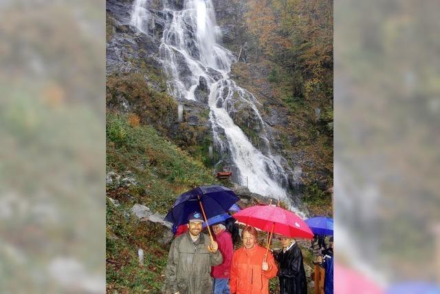 Freie Sicht auf den Wasserfall