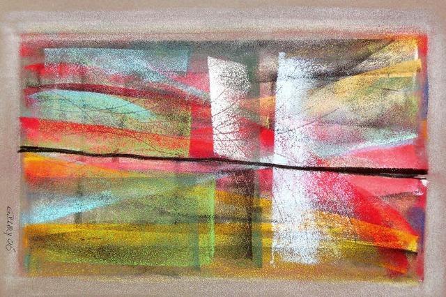 Kreidebilder von Gisela Bury