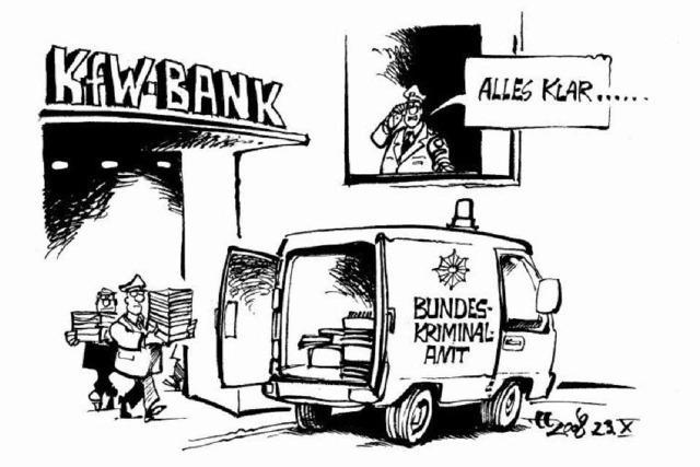 Anschließend gleich zur Bayerischen Bank!