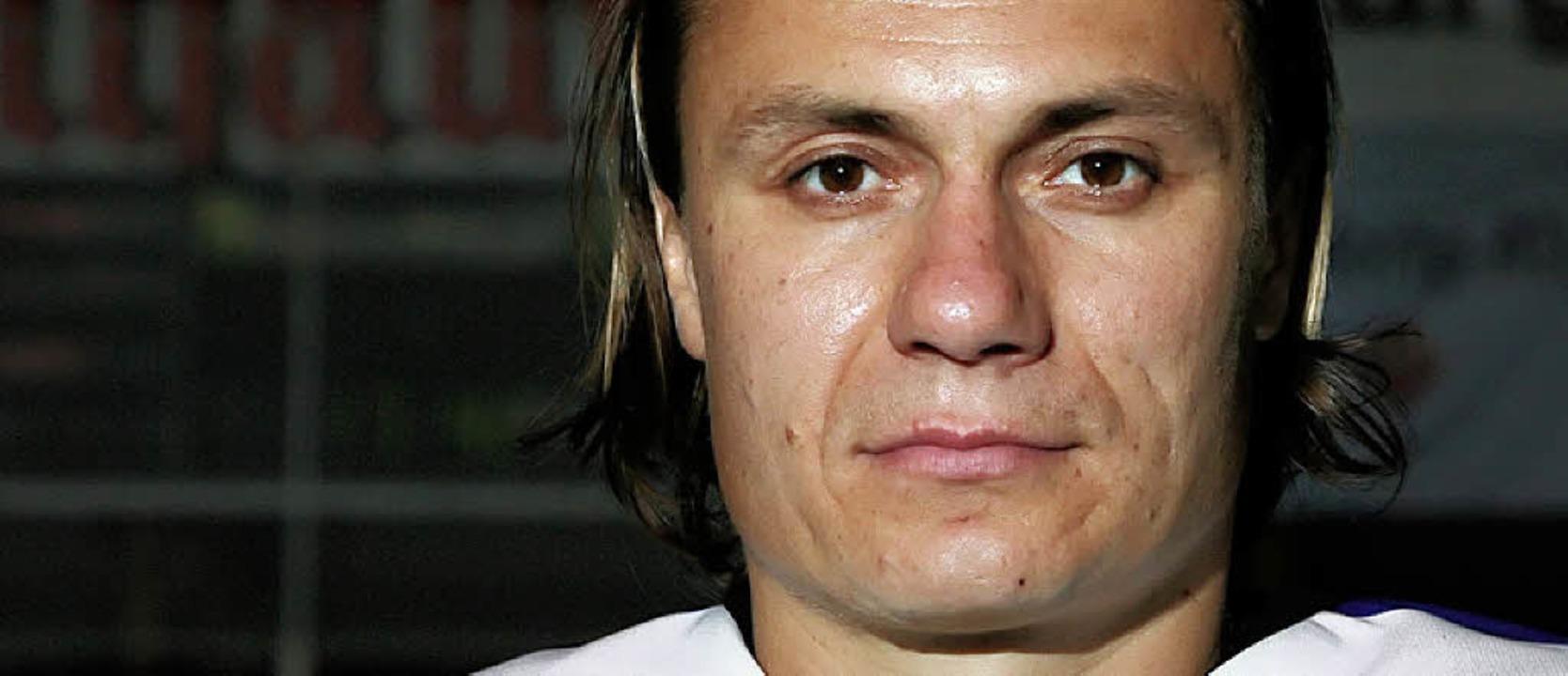 Ihn plagt seit Wochen der Rücken: der tschechische Angreifer Roman Kadera   | Foto: seeger