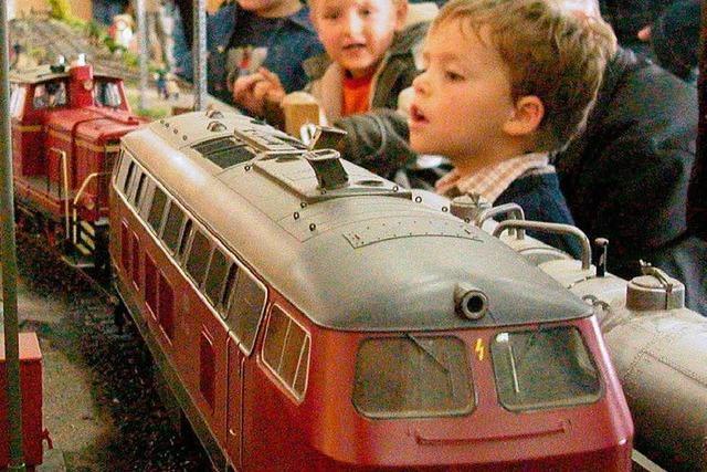 Ausstellung mit großen Modelleisenbahnen