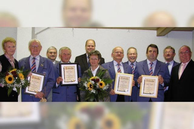 Seit Jahrzehnten aktiv bei Sängerlust in Oberhausen