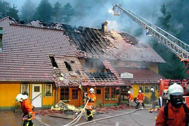 Und wieder brennt der Forellenhof