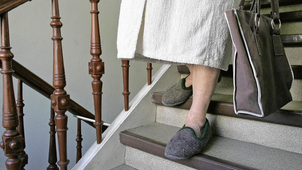 Auch Alte wollen ihre eigenen Wege geh... und Pflegern bisweilen Mühe bereitet.  | Foto: GRABOWSKY