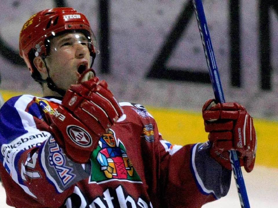 Patrick Vozar erzielte den Siegtreffer...auso freuen wie auf diesem Archivbild.  | Foto: Patrick Seeger