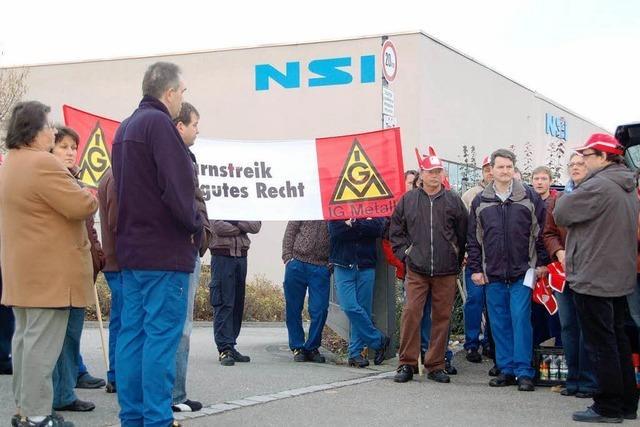 Warnstreik bei NSI