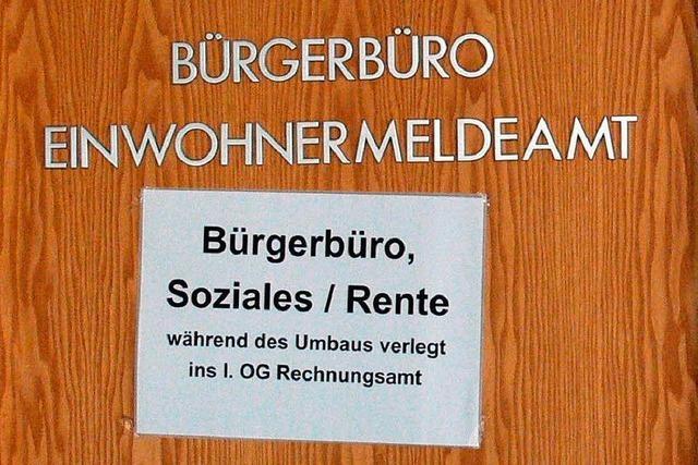 Bürgerbüro im Rathaus geplant