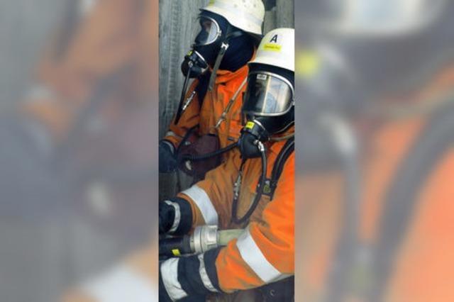 Gut eingespielte Feuerwehr
