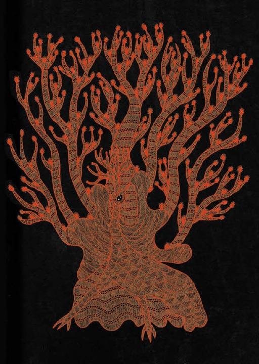 Chandrasekar Arumugam bannt die Geheim... der Bäume auf handgeschöpftes Papier.  | Foto: verlag
