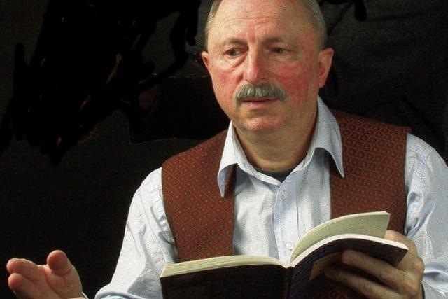 Stefan Pflaum liest beim Alemanne-Veschper