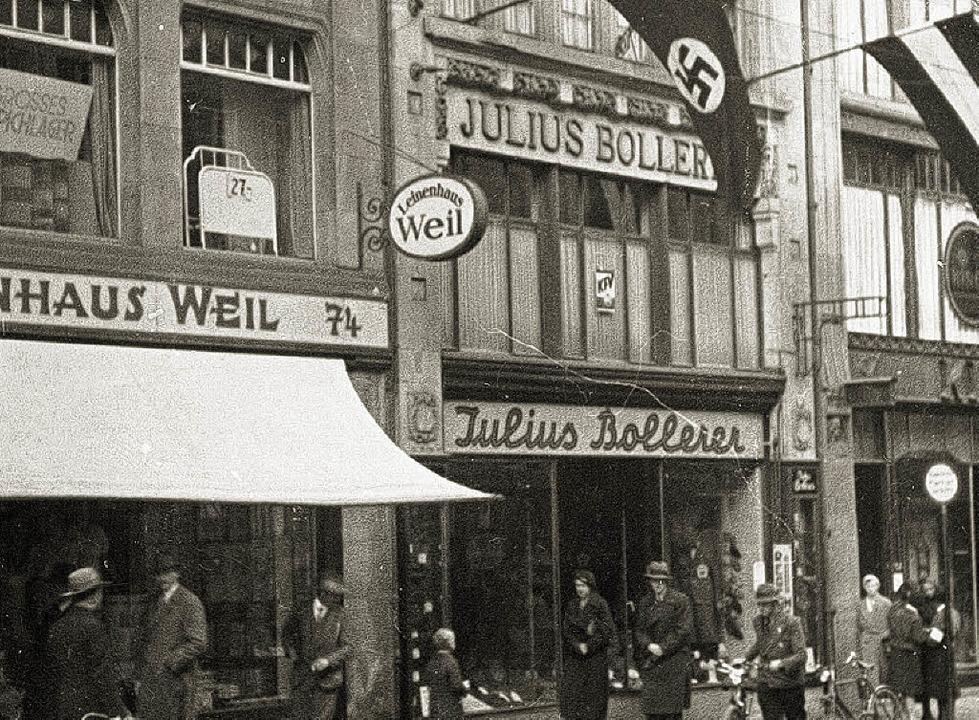 1935: Hakenkreuzfahnen auf der Kajo  | Foto: Privat