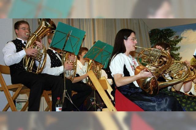 Trompeter geben den Ton an