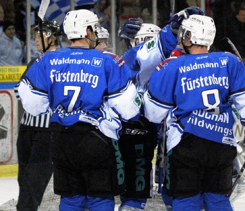 Die SERC-Cracks durften sich im     Na...egen Dresden über fünf Treffer freuen.  | Foto: reinhardt