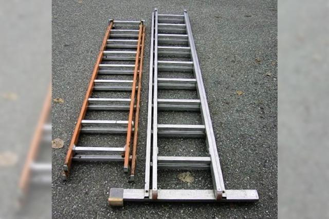 Diebe ließen Leitern zurück