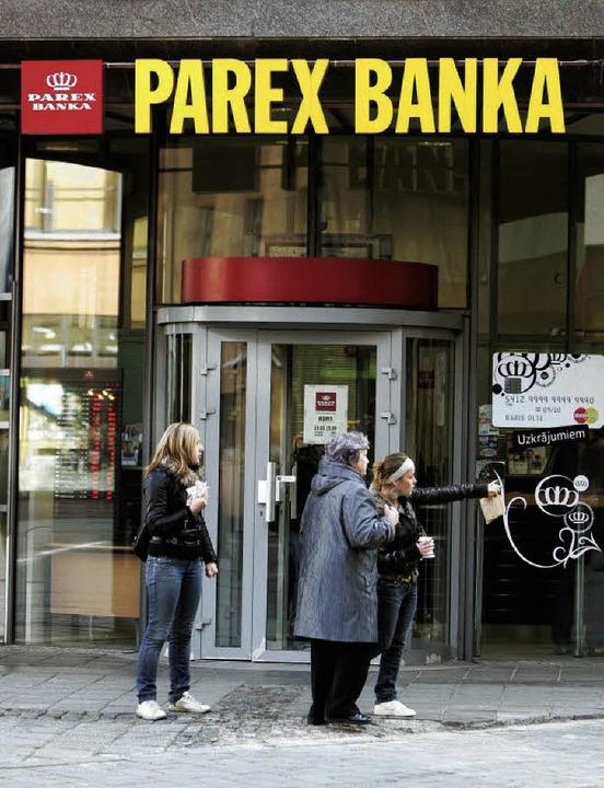 Jetzt in staatlicher Hand – die Parex Bank.   | Foto: dpa