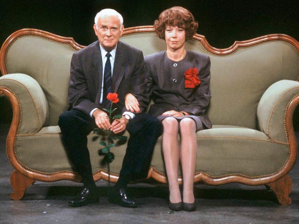 Kongeniales Paar: Loriot und Evelyn Hamann.  | Foto: dpa