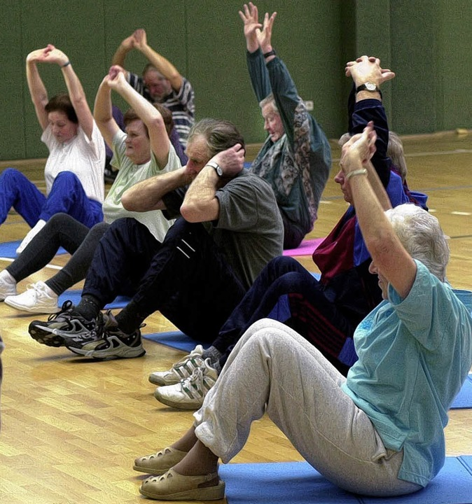 Wer in der Gruppe Sport treibt, kann s...er seine Nöte und Ängste austauschen.   | Foto: dpa/fotolia.com