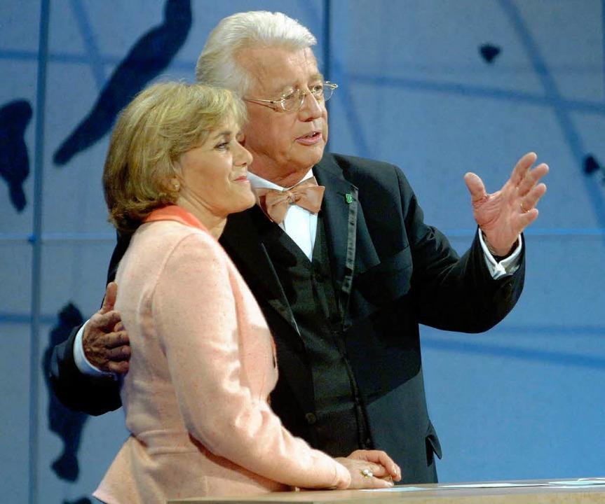 2005 mit Dieter Thomas Heck bei einer ...gunsten der Welthungerhilfe auftreten,  | Foto: dpa/dpaweb
