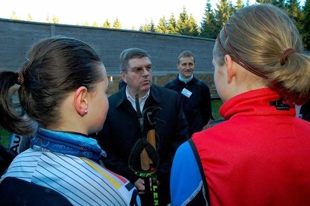 IOC-Vize Bach inkognito am Skiinternat