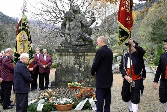 Zur Erinnerung an die Kriegsopfer