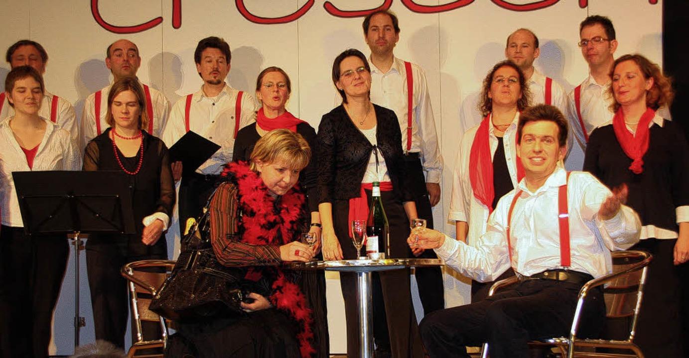 Der Chor Crescendo aus Bollschweil bei...em Herbstkonzert in der Möhlinhalle.    | Foto: Silvia Faller