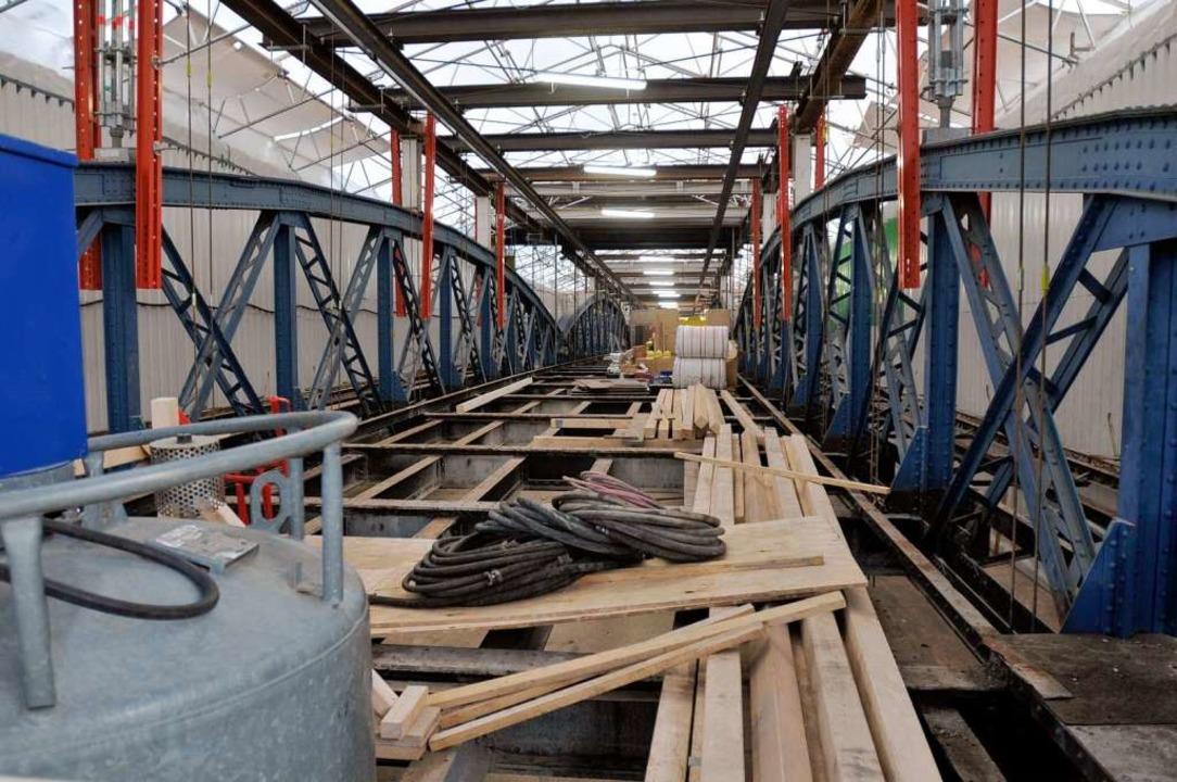 Baustelle Wiwili-Brücke: Die Schäden s...iel schlimmer als im Vorfeld erwartet.    Foto: Ingo Schneider