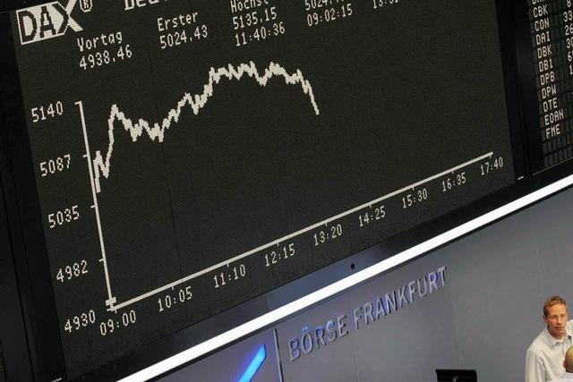 Der deutsche Aktienmarkt stürzt ab