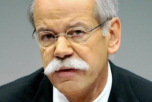 Daimler-Chef Zetsche: Autoindustrie rutscht weiter ab