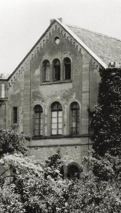 Die Müllheimer Synagoge vor ihrem Abriss 1968  | Foto: Glaubrecht