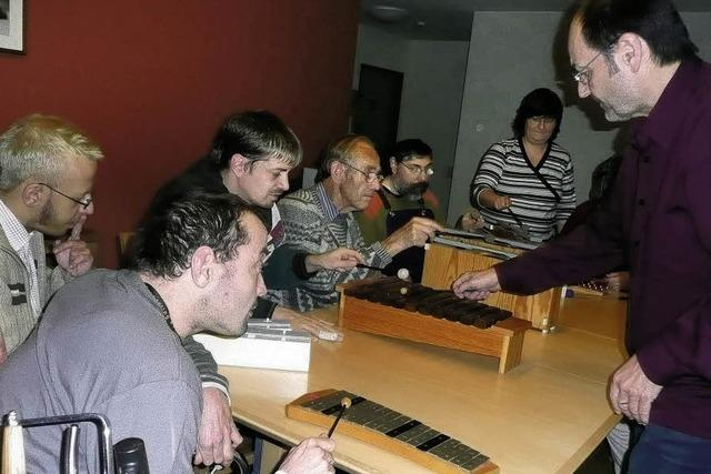 Behinderte leben integriert mitten in der Stadt